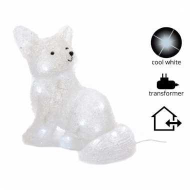 Kerst vos met led verlichting 31 cm