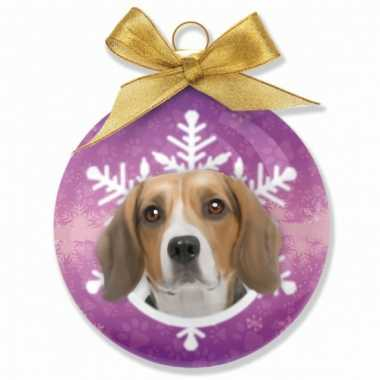 Kerstbal beagle 8 cm