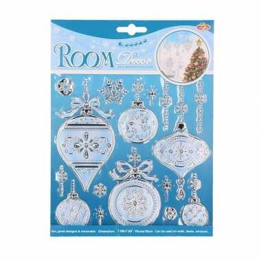 Kerstbal decoratie raamstickers