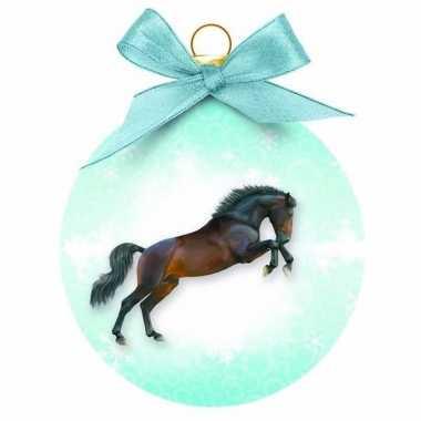 Kerstbal springend paard 8 cm