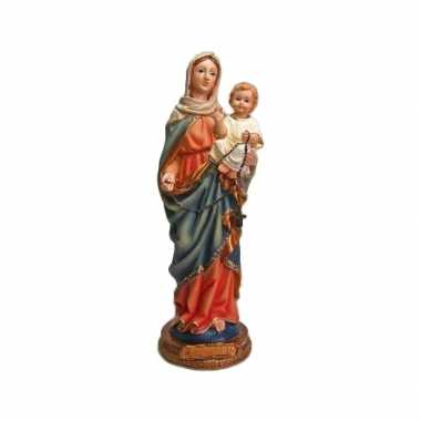 Kerstbeeld maria met kind 22 cm