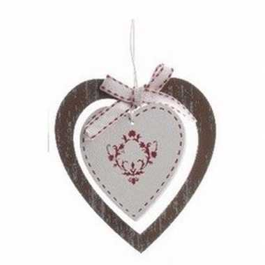 Kerstboom decoratie hanger bruine hart