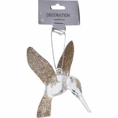 Kerstboom hanger kolibri vogel goud 7 cm