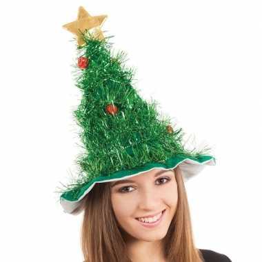 Kerstboom hoedje voor volwassenen
