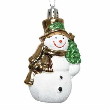 Kerstboomhanger sneeuwpop van 5 x 8 cm