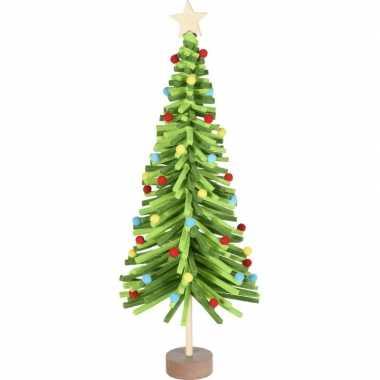 Kerstdecoratie kerstboom groen van vilt 45 cm
