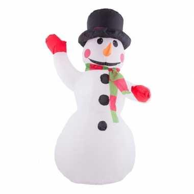 Kerstdecoratie opblaasbare sneeuwman 120 cm