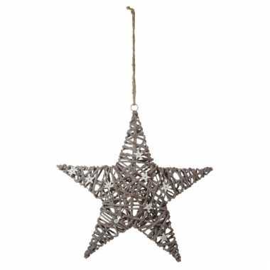 Kerstdecoratie ster van hout 40 cm