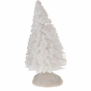 Kerstdorp boompjes wit 4 stuks