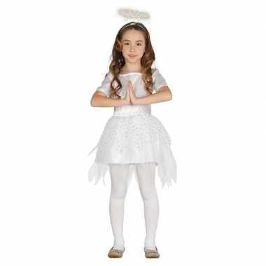 Kerstengelen kostuum raziel met aureool/halo voor meisjes