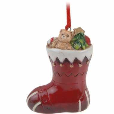 Kersthanger kerst sokje 8 cm