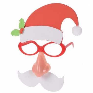 Kerstman feestbril met licht voor volwassenen