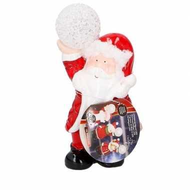 Kerstman met led-verlichting 17 cm