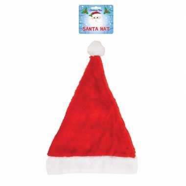 Kerstman muts rood met wit voor volwassenen