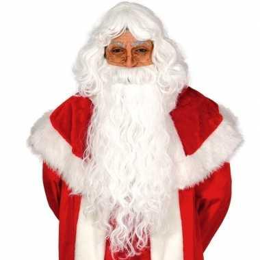 Kerstman verkleed set pruik met baard