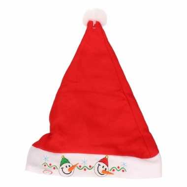 Kerstmannen muts voor kinderen met lampjes