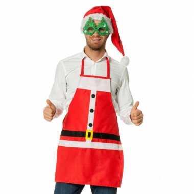 Kerstmannen verkleed schort