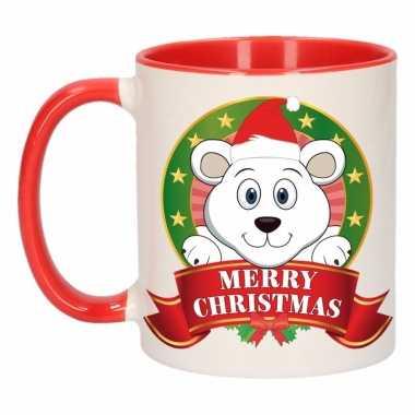 Kerstmis mok / beker ijsbeer 300 ml