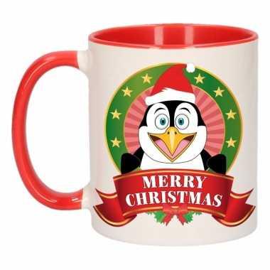 Kerstmis mok / beker pinguin 300 ml