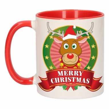 Kerstmis mok / beker rudolf rendier 300 ml