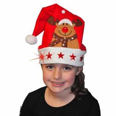 Kerstmuts met sterren lichtjes voor kinderen