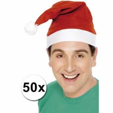 Kerstmutsen aanbieding 50 stuks