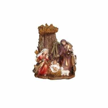 Kerststal beeldje van het heilige gezin 16 cm