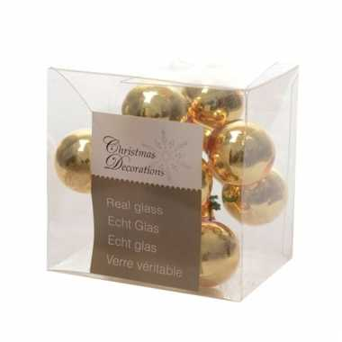 Kerststukje gouden balletjes 10 stuks