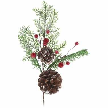 Kerststukje instekertjes 28 cm