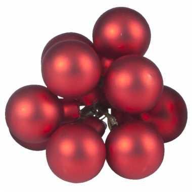 Kerststukjes kerstballen rood 10 stuks