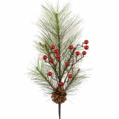 Kersttak met rode besjes 60 cm