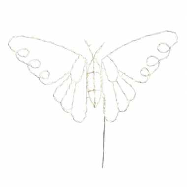 Kerstverlichting vlinder op led verlichting 45 x 25 cm