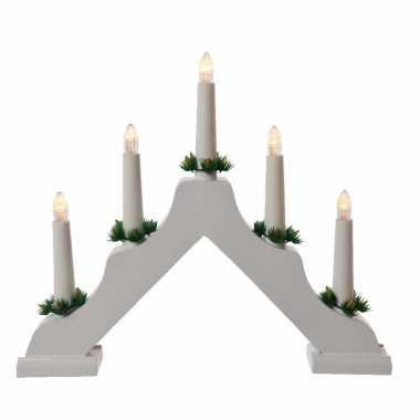 Kerstverlichting Witte Led Kaarsenbrug Op Batterijen Kerst Man Nl