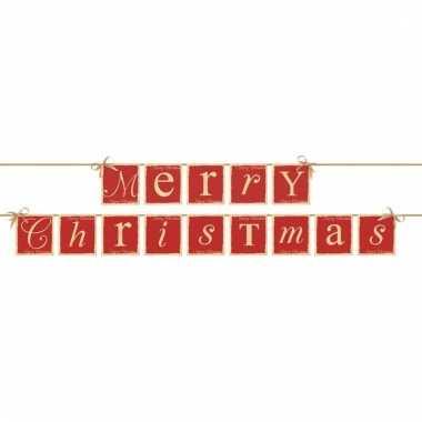 Kerstversiering banner merry christmas