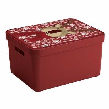Kerstversiering opbergbak/box voor kerstversiering/kerstverlichting