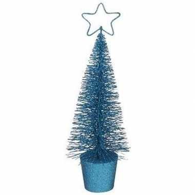 Klein blauw kerstboompje 30 cm