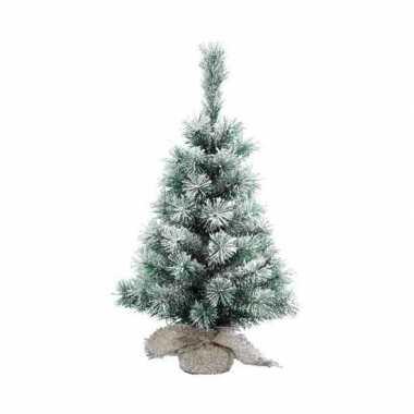 Klein kerstboompje besneeuwd 60 cm