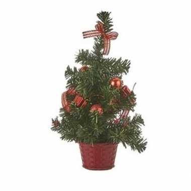 Kleine kunst kerstboom rood 32 cm