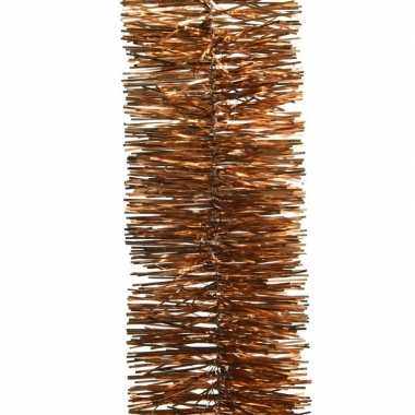 Koper bruine kerstboom folie slinger 270 cm