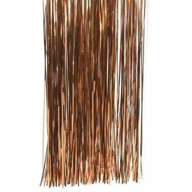 Koper bruine kerstboom versiering lametta slierten