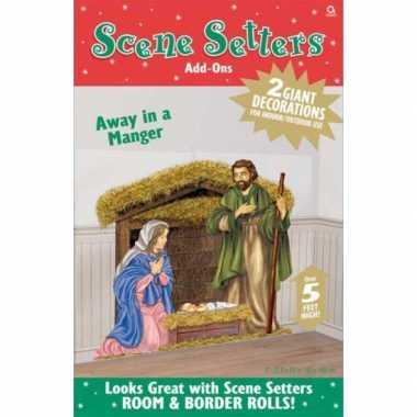 Kribbe kerstmis scenesetter