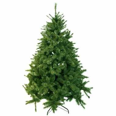 Kunst kerstboom 185 cm dennengroen op stalen voet