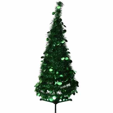 Kunst kerstboom 90 cm lametta grote pailletten