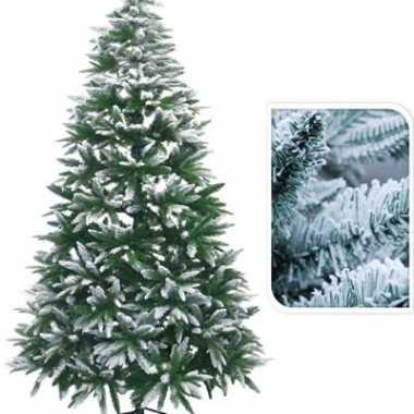 Kunst kerstboom met sneeuw 210 cm