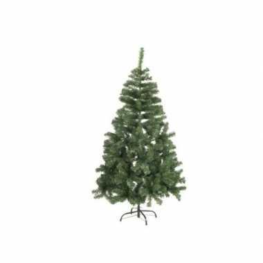 Kunst kerstboom met sneeuwvlokken en verlichting 90 cm
