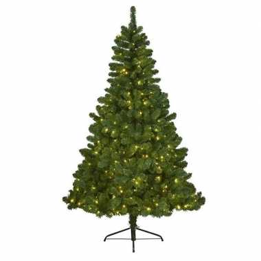 Kunstkerstboom met verlichting 120 cm imperial pine groen