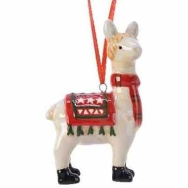 Lama/alpaca kerstornamenten kersthangers 9 cm