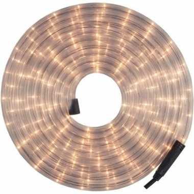 Lichtslang lichtsnoer voor buiten kerstverlichting wit 9 meter