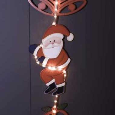 Lichtslang met kerstman 180 cm