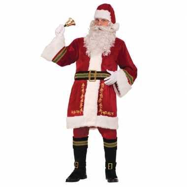 Luxe classiek kerstman kostuum voor heren